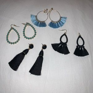 3 set of francescas earrings